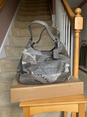 Coach Madison Maggie Patchwork Silver purse f15462 for Sale in Marlborough, MA