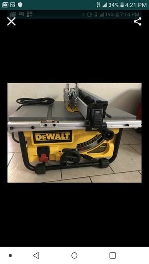 """DEWALT DW745 PORTABLE JOBSITE TABLE SAW 10"""" NEW NUEVO WITH ACCESSORIES AND STAND 🙏✌💪✌💪✌ for Sale in Las Vegas, NV"""