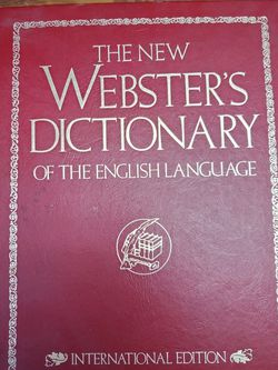Webster Dictionary International Edition for Sale in Montebello,  CA