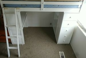 White bunk bed/work office for Sale in Lucerne, CA