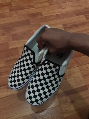 Black Checker Vans sz 9 for Sale in Cumberland, IN