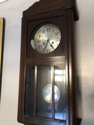 Mahogany Antique Wall Clock for Sale in San Diego, CA