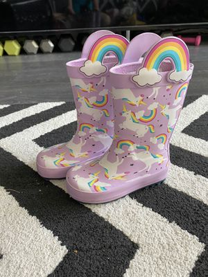 Unicorn and Rainbow rain boots for Sale in Tomball, TX