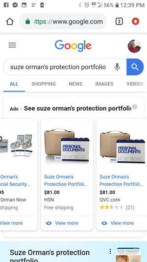 Suze Orman's Protection Portfolio/Briefcase for Sale in Payson, AZ