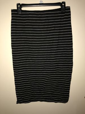 Black Pencil Skirt with White Stripes for Sale in Garrison, MD