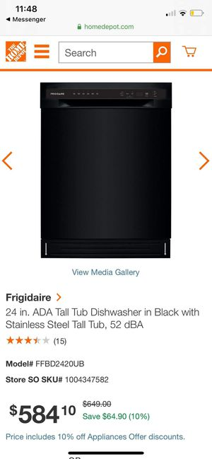 New Frigidaire black dishwasher for Sale in Montclair, CA