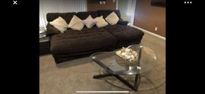 Very nice Microfiber sectional couch with matching ottoman very comfortable for Sale in Livermore, CA