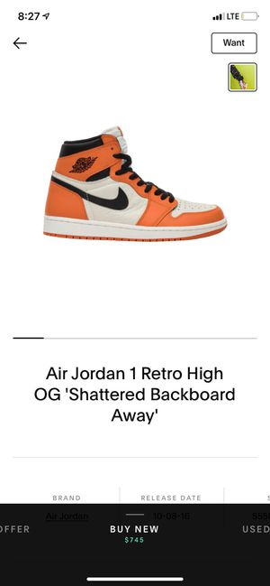 Looking for Jordan 1 shattered backboard reverse for Sale in Portland, OR