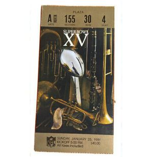 Super bowl XV ticket for Sale in San Leandro, CA