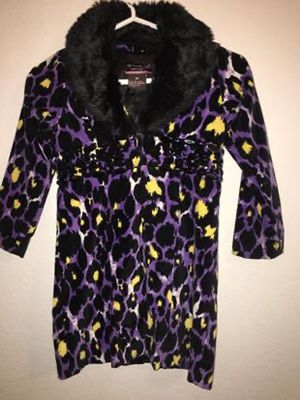 MY VINTAGE BABY COLLECTION ANIMAL PRINT FASHION COAT FOR GIRL (SIZE 6X) VERY CUTE $10.00 for Sale in McKinney, TX