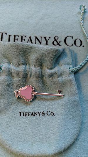 Tiffany Pink Trefoil Key Heart Pendant for Sale in McKeesport, PA