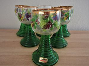 Set of 6 vintage Wine Glasses from Germany (Roemer Glasses) for Sale in Sun City, AZ