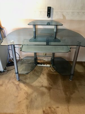 Glass desk, printer stand and bookcase for Sale in Fremont, CA