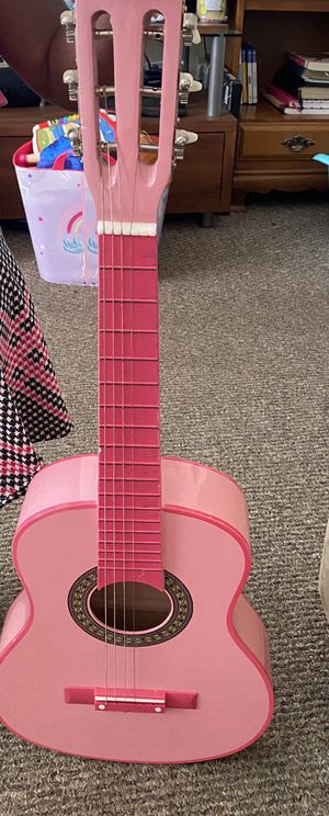 Girls pink guitar for Sale in Groveport, OH