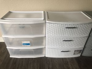 Plastic drawers for Sale in Fullerton, CA
