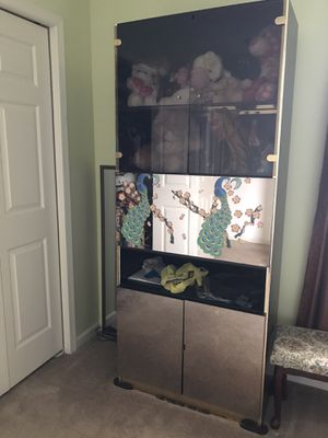 Mirror and glass cabinet for Sale in Macungie, PA