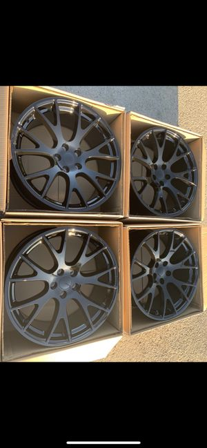 "Brand new set of 20"" Hellcat rims 20 Hell Cat Wheels 20s Rines will fit Dodge Charger , Challenger , Chrysler 300 and Magnum 📞 CALL(2I4)742-O77O 🔥Eas for Sale in Dallas, TX"