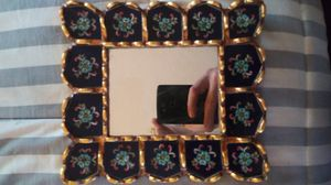 Antique painted small mirror glass/ wood for Sale in Chelsea, MA