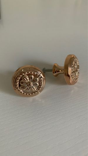 Plastic Rose Gold Decorative Drawer Knobs for Sale in Las Vegas, NV
