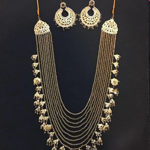 Indian Traditional Jewelry Necklace Set for Sale in Queens, NY