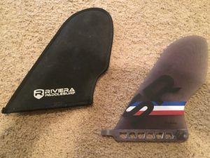 Riviera Surfboard Single Fin SUP standup paddle board race fiberglass for Sale in Sun City, AZ