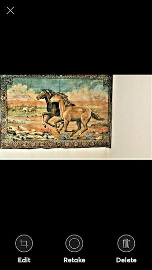BEAUTIFUL ANTIQUE HORSE TAPESTRY 1950'S for Sale in Lynchburg, VA