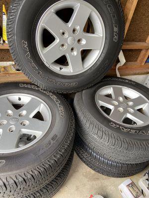 2016 Jeep Wrangler Wheel and Tire Set of 5 for Sale in Midlothian, VA