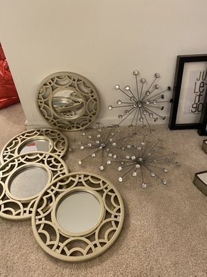 Gold Decorative Circular Wall Mirrors for Sale in Los Angeles, CA