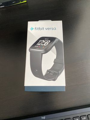 Fitbit Versa with Leather Band for Sale in Boyds, MD