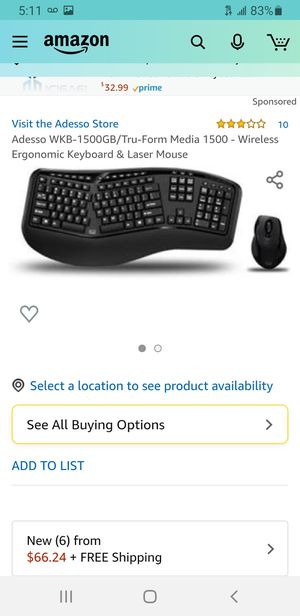 Adesso computer keyboard for Sale in Rosemead, CA