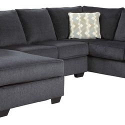 NEW, U SHAPPED, LAF CORNER CHAISE SECTIONAL, SLATE COLOR. for Sale in Santa Ana,  CA