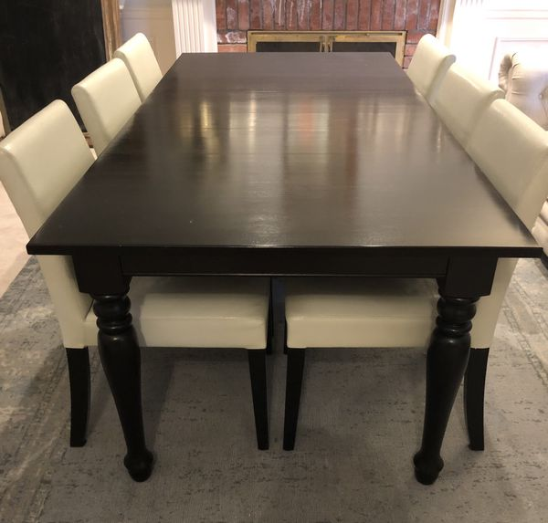 Crate & Barrel dining table and 6 chairs