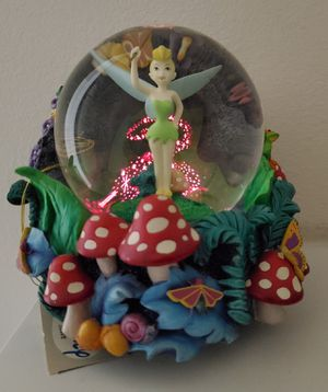 Disney Tinkerbell Musical light-up Snowglobe Peter Pan collectible statue for Sale in Placentia, CA