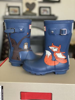 Hunter boots woodland creatures $40 for Sale in Fontana, CA