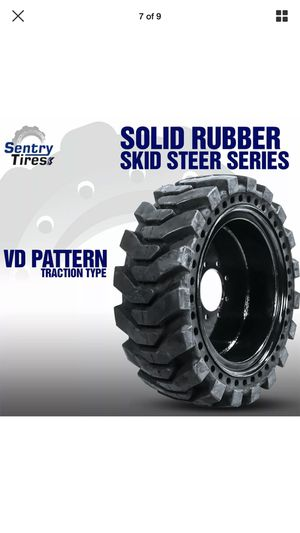A Set of 4 Skid Steer Tires with Rims Size 10x 16.5, 8 bolt holes for Sale in San Bernardino, CA