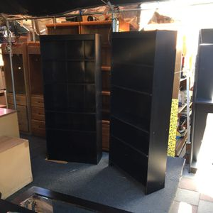 Set Of 3 Black Bookshelves , Available Individually Or As A Set , $35 - $45 OBO for Sale in West Hollywood, CA