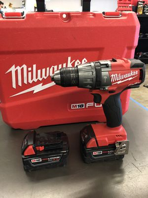 "Milwaukee 1/2"" Hammer Drill/Driver Kit Two 5.0 Batteries and Charger in hard case for Sale in Tacoma, WA"