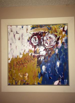 Painting white frame abstract for Sale in Los Angeles, CA