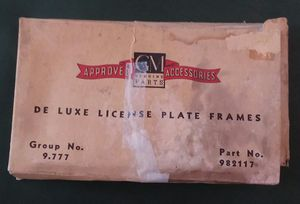 Vintage License Plate Frames Part #982117 for Sale in Riverview, MI