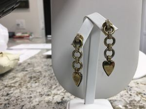 Logos designer dangling drop earrings for Sale in Orlando, FL