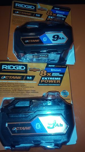 RIDGID 18V BLUTOOTH OCTANE 9Ah BATTERYS for Sale in Perris, CA