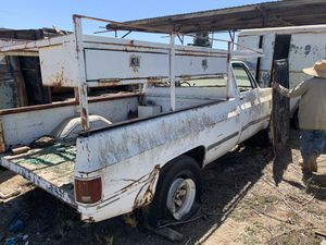 1984 Chevy truck for parts and rack no paperwork for Sale in Fresno, CA
