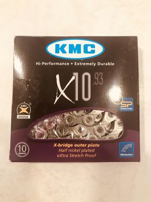 Bicycle KMC X10.93 10 speed chrome chain ( brand new) for Sale in Pompano Beach, FL