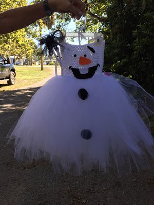 Olaf tulle costume with matching headband. for Sale in Eustis, FL