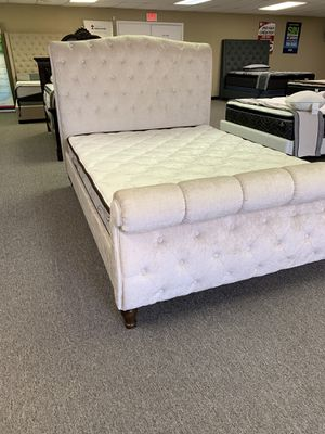 Zero down financing queen-size natural soft bed with mattress and free Delivery for Sale in Irving, TX