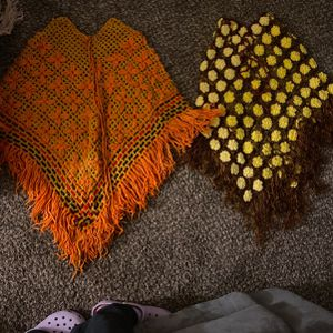 Pair of crocheted ponchos for Sale in Hanford, CA