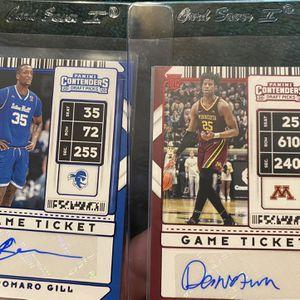 Panini Draft Contenders Romaro Gill & Daniel Oturu Autograph Cards for Sale in Whittier, CA