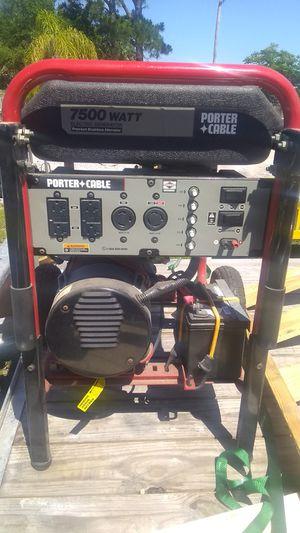 Porter Cable 7500 watts electric start Generator for Sale in Deltona, FL
