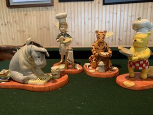 Royal Doulton figurine Cooking collection 4 piece set / Winnie the Pooh porcelain for Sale in Anaheim, CA