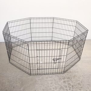 "New in box $30 Foldable 24"" Tall x 24"" Wide x 8-Panel Pet Playpen Dog Crate Metal Fence Exercise Cage for Sale in Whittier, CA"